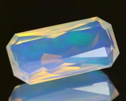 7.58Ct Natural Ethiopian Purple Neon Flash Color Crystal Welo Opal A0514