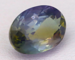 1.99Ct Natural BiColor Unheated Peacock Tanzanite Oval Master Cut A0524