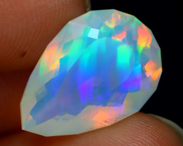 3.21Ct Natural Bright Neon Flash Play Color Ethiopian Welo Opal A0527