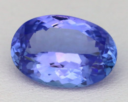 3.63Ct Natural Blue Tanzanite VVS Flawless Oval Master Cut A0528