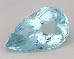 Aquamarine 10.15Ct VVS Pear Cut Natural Blue Color Aquamarine A0532