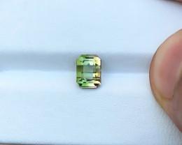 HGTL CERTIFIED 1.52 Ct Natural Bi Color Transparent Tourmaline Ring Size Ge