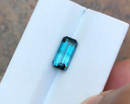 HGTL CERTIFIED 2.35 Ct Natural Blue Indicolite Transparent Tourmaline Gem