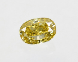 Ravishing!! 0.10Cts Natural Untreated Diamond Fancy Yellow Cushion Cut Afri