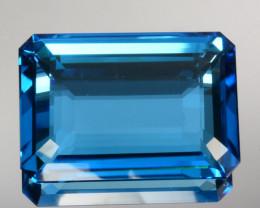 41.50 Cts Natural Swiss Blue Topaz Octagon flat Cut Brazil