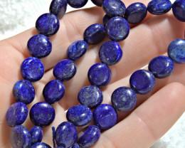225.0 Tcw. Afghan Lapis Lazuli Strand - 10mm - Gorgeous