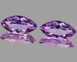 12x6 mm Marquise 2 pcs 2.96cts Pinkish Purple Amethyst [VVS]