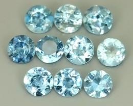 2.15 Cts - Sparkling Luster round~Natural Aquamarine Excellent!!