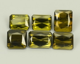 5.50 CTS AWESOME NATURAL GREEN TOURMALINE 6 PCS PARCEL