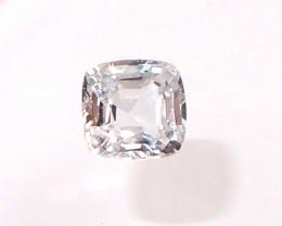 1.29ct clean unheated white sapphire