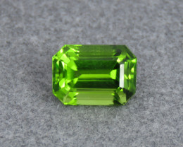 IF 5.50 ct Natural Green Color Emerald Cut Peridot From Pakistan