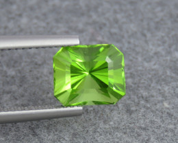 IF 3.06 ct Natural Green Color Fancy Cut Peridot From Pakistan