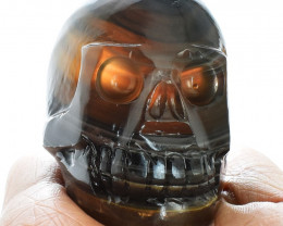 Genuine 1034.00 Cts  Multicolor Fluorite Hand Carved Skull
