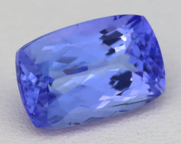 3.12Ct Natural Vivid Blue Tanzanite VVS Octagon Precision Cut B0601