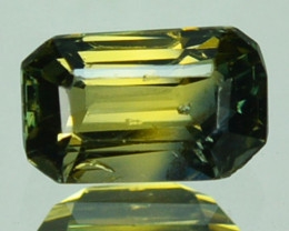 0.97 Cts Australian Unheated Natural Sapphire Yellowish  Green (Emerald Cut
