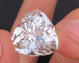 Trillion Cut  , Top Quality 24.45 Ct Natural  Morganite