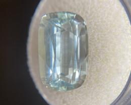 Fine Blue Aquamarine 8.17ct Cushion Cut Loose Gemstone