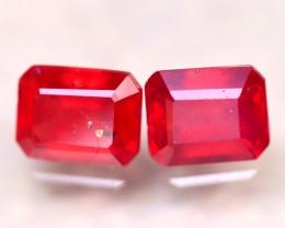 Ruby 6.85Ct 2Pcs Madagascar Blood Red Ruby DN91/A20