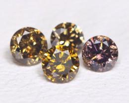 Coffee Diamond 0.39Ct Natural Untreated Genuine Diamond BM44