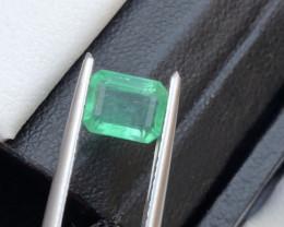 Top Clean 1.20 ct Vivid Emerald Panjshir Ring Size