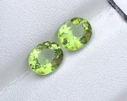 Top Grade 3.45 ct Deep Color Peridot Ring Size