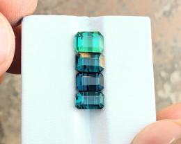 5.40 Ct Natural Green & Blue Transparent Tourmaline Gemstones Parcels
