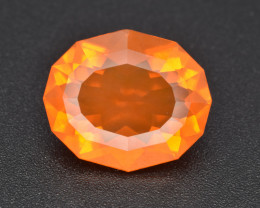 Precision Cut 5.23 Cts Mexican Fire Opal Excellent Fire Gemstone