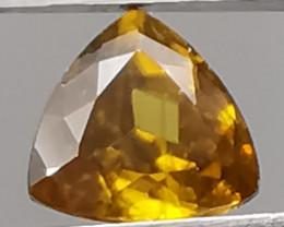 Sphene, 1.13ct, triangle shape, great colours super stone!