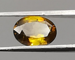 Sphene, 1.01ct, oval shape, bright colours, shining gem!