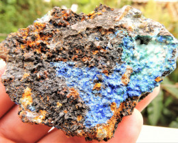 146.60g LINARITE WITH ALLOPHANE SPECIMEN FROM KING ARTHUR MINE THRACE GREEC