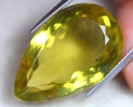29.82ct Natural Lemon Quartz Pear Cut Lot LZ7532