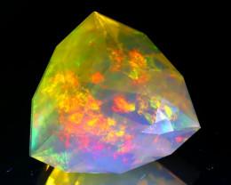 9.88Ct ContraLuz Mexican Precision Cut Very Rare Species Opal C3110