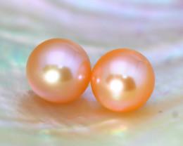 8.3mm 7.87Ct Natural Australian South Sea Orange Color Pearl C0714