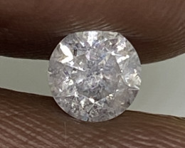 (1) Certified $779 Fiery 0.47cts SI3 Nat White Round Loose Diamond