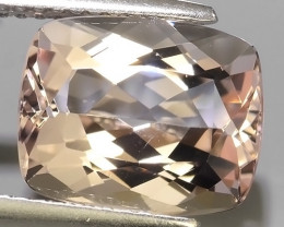 4.45 Cts Stunning  Pale Peach pink cushion Shape Moganite