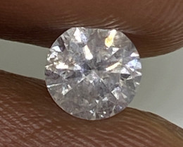 (4) Certified $575 Fiery 0.46cts I1 Nat White Round Loose Diamond
