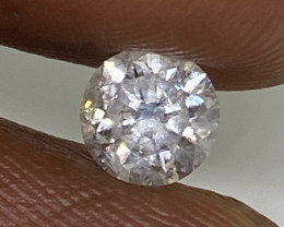 (5) Certified $1105 Gorgeous 0.51cts SI1 Nat White Round Loose Diamond