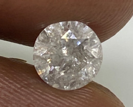 (6 Certified $1296 Brilliant  0.71cts SI3 Nat White Round Loose Diamond