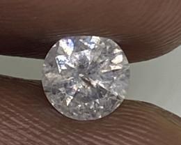 (7) Cert $796 Gorgeous 0.46cts SI2 Nat White Round Loose Diamond