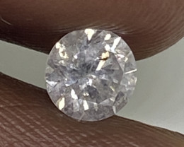(8) Certified $943 Beautiful  0.53cts SI2 Nat White Round Loose Diamond