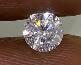 (12) Certified $955 Beautiful 0.64cts SI2 Nat White Round Loose Diamond