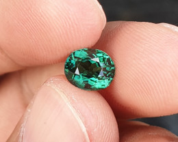 NO HEAT 1.53 CTS GORGEOUS VVS TOP TOP GREEN TOURMALINE NIGERIA