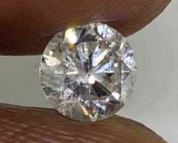 (14) Certified $836 Precious 0.50cts SI2 Nat White Round Loose Diamond