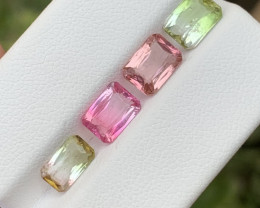 5.20 carats Bi and transparent pink colour Tourmaline  Gemstone From Afghan
