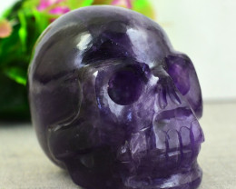 Genuine  965.00 Cts Amethyst  Hand Carved Skull