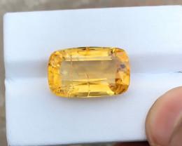12.55 Ct Natural Yellow Transparent Citrine Gemstone
