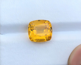 5.55 Ct Natural Yellow Transparent Citrine Gemstone