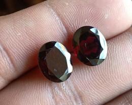 Natural Almandine Garnet Gemstone Pair VA5540