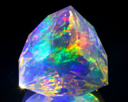 29.90Ct ContraLuz Precision Cut Mexican Very Rare Species Opal A0801