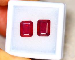 Ruby 6.60Ct 2Pcs Madagascar Blood Red Ruby EN68/A20